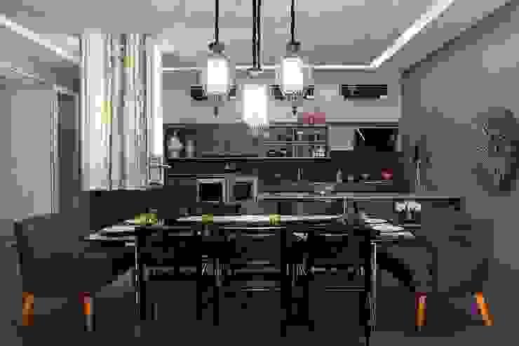 Ambientes integrados Salas de jantar modernas por RABAIOLI I FREITAS Moderno