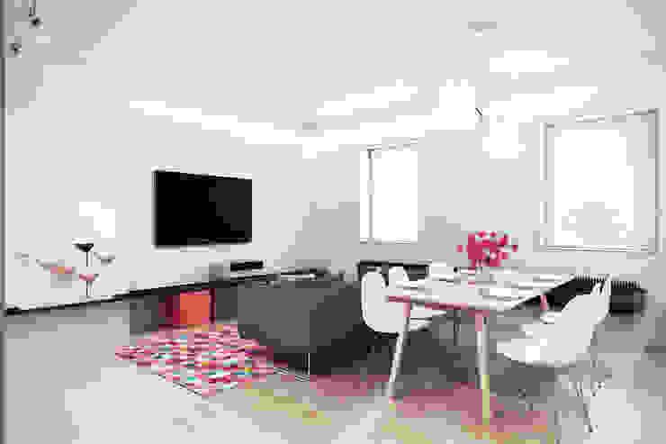 Mieszkanie w centrum Wrocławia Skandynawski salon od COOLDESIGN Skandynawski