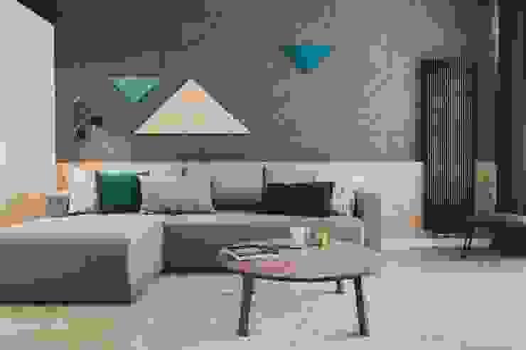 Moderne woonkamers van Raca Architekci Modern