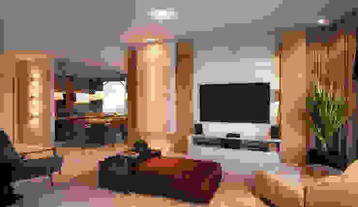 LIVING 01 Salas de estar modernas por CASA DE PROJETOS Moderno