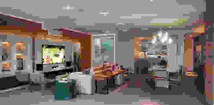 LIVING 02 Salas de estar modernas por CASA DE PROJETOS Moderno