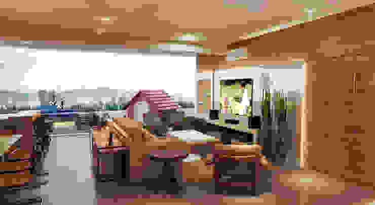 LIVING 02 Salas de jantar modernas por CASA DE PROJETOS Moderno