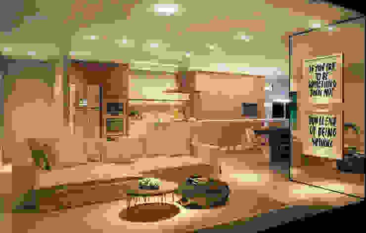 LIVING 03 Salas de jantar modernas por CASA DE PROJETOS Moderno