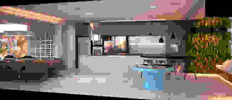 LIVING 04 Salas de jantar modernas por CASA DE PROJETOS Moderno