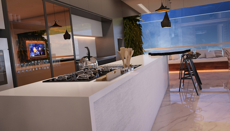 LIVING 04 Salas de estar modernas por CASA DE PROJETOS Moderno