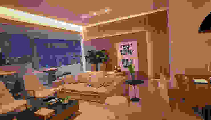 LIVING 05 Salas de estar modernas por CASA DE PROJETOS Moderno