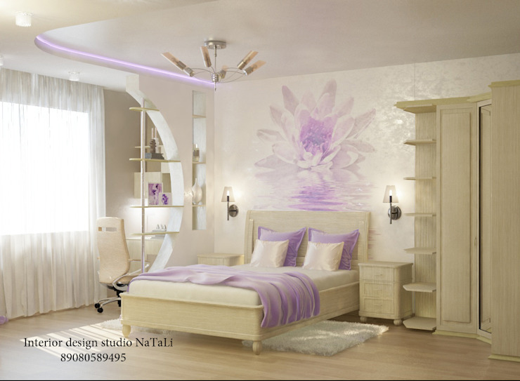 Дизайн квартиры в современном стиле Спальня в стиле модерн от Студия дизайна Натали Модерн