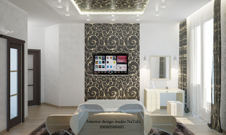 Дизайн квартиры в современном стиле Студия дизайна Натали Спальня в стиле модерн