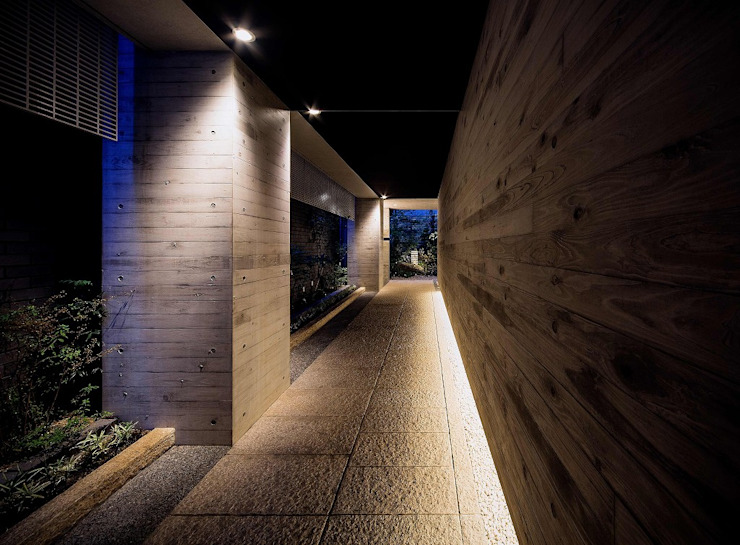 アプローチ露地 モダンな 壁&床 の 松田靖弘建築設計室 モダン