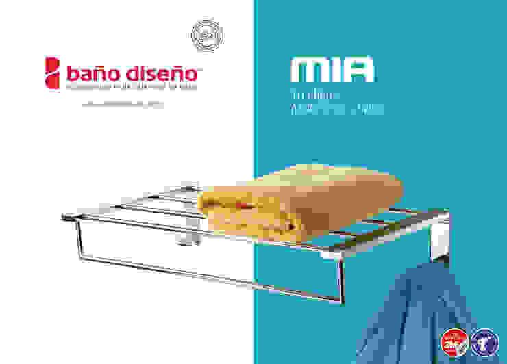 Colección MIA - accesorios de baño adhesivos / con taladro - Baño Diseño de Baño Diseño Moderno