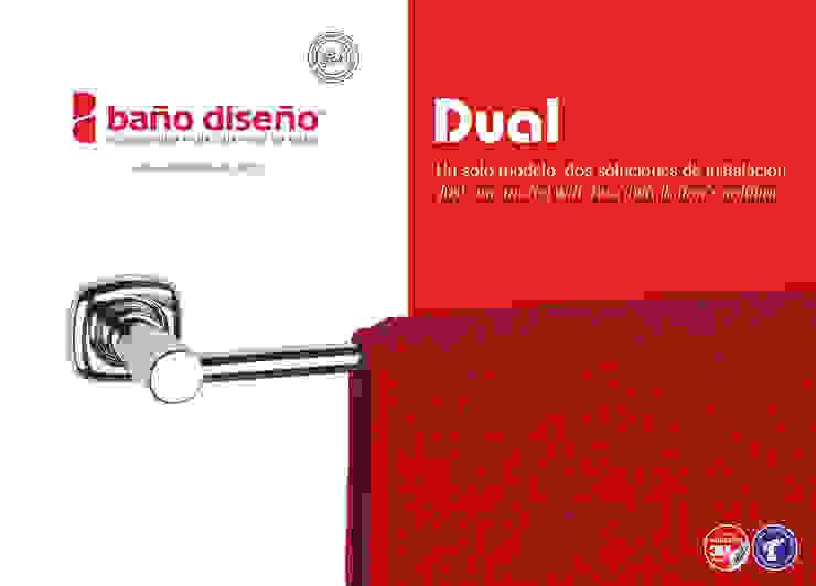 Colección DUAL - accesorios de baño adhesivos y con taladro - Baño Diseño de Baño Diseño Moderno