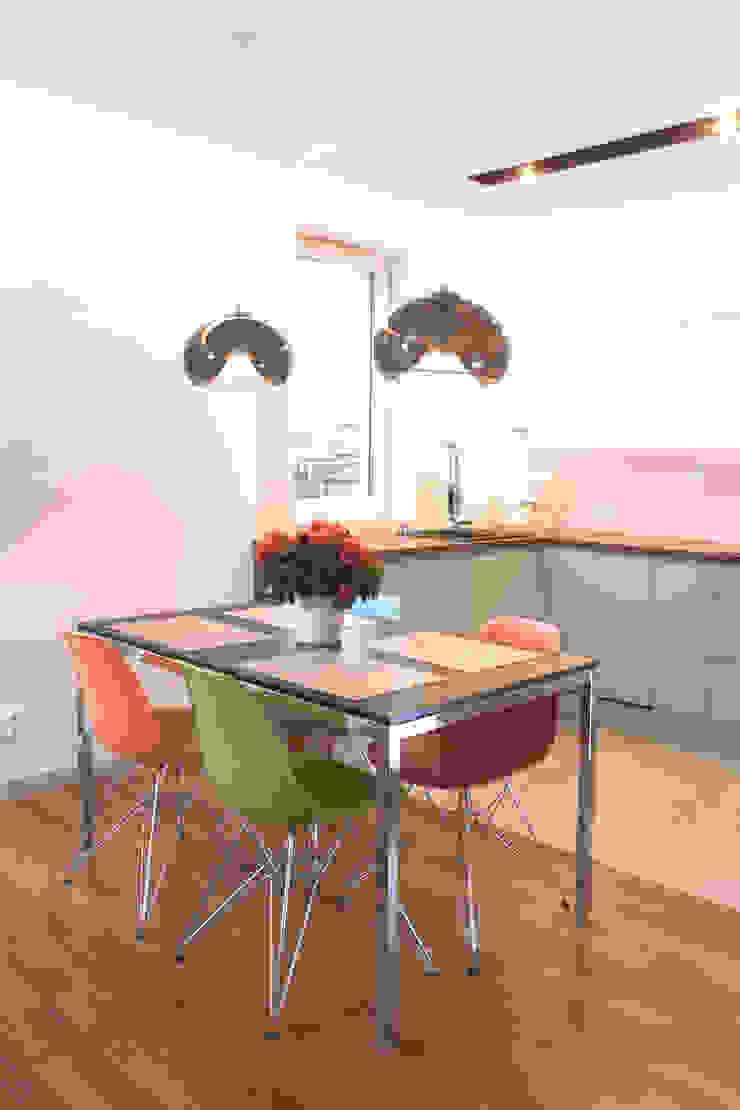 Mieszkanie 56 m² w Ząbkach pod Warszawą / Kuchnia Nowoczesna kuchnia od Sceneria Nowoczesny