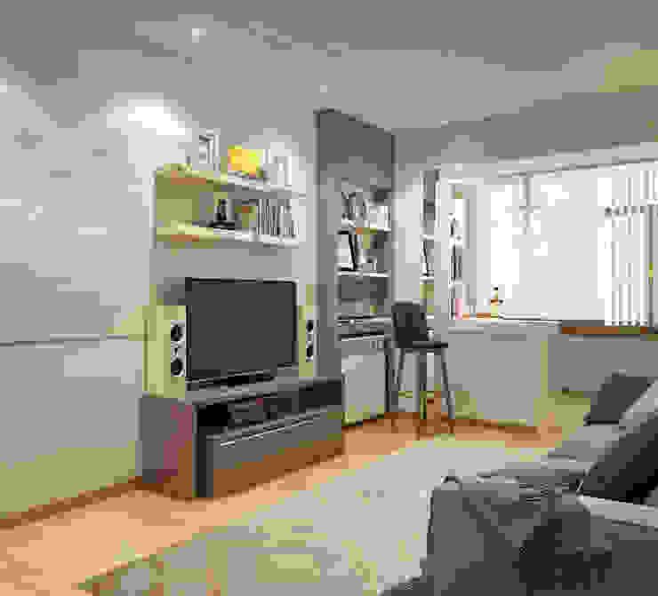 Гостиная в типовой квартире Гостиная в стиле минимализм от Sweet Home Design Минимализм
