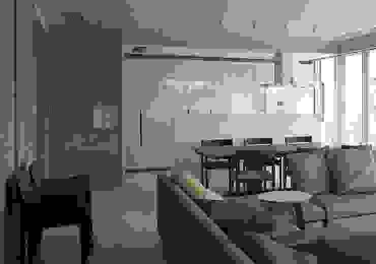 9階ダイニングキッチン モダンデザインの ダイニング の 松田靖弘建築設計室 モダン