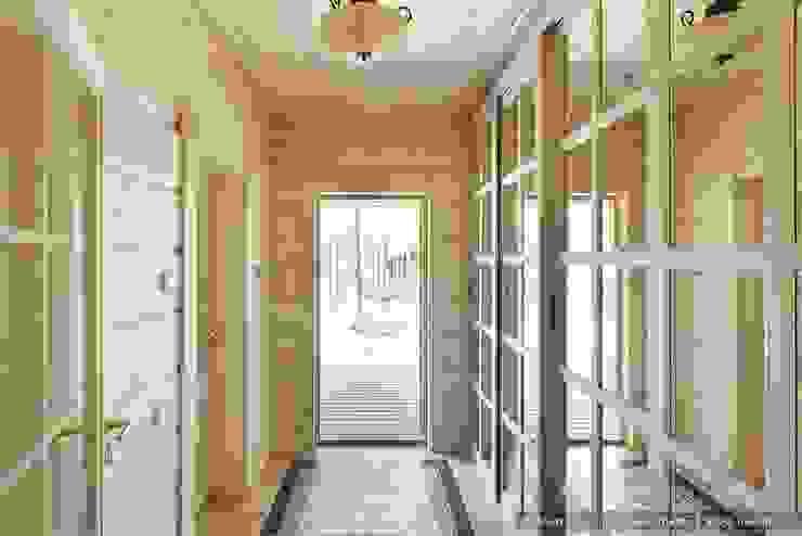 Skandynawski korytarz, przedpokój i schody od Ольга Кулекина - New Interior Skandynawski