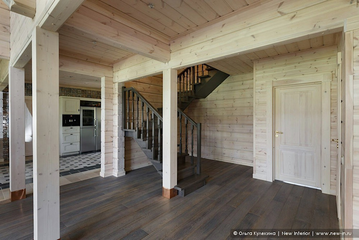 Scandinavian style corridor, hallway& stairs by Ольга Кулекина - New Interior Scandinavian