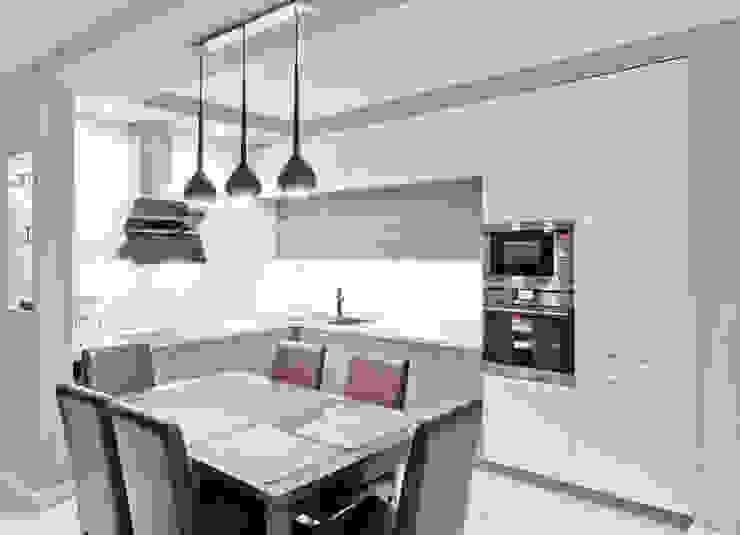 Realizacja kuchenne na Osiedlu Apartamenty Generalska w Opolu od Meble Ideal Nowoczesny