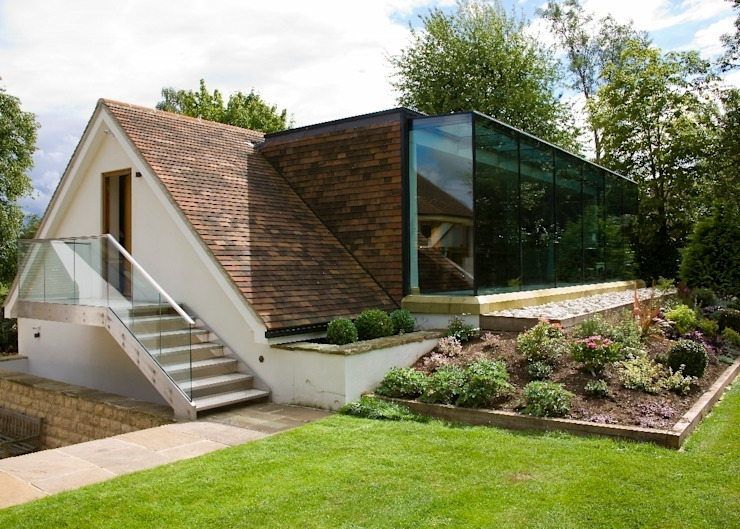Glass Extension Modern houses by Wildblood Macdonald Modern