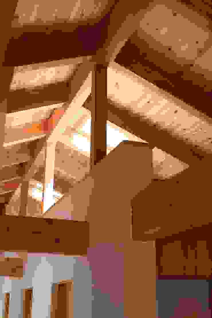屋根裏見上げ 和風の 玄関&廊下&階段 の 青木昌則建築研究所 和風