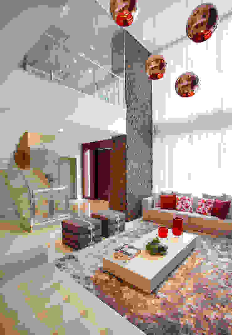 Sala de Estar Studio Claudia Pimenta e Patricia Franco Decoração de Interiores Salas de estar modernas