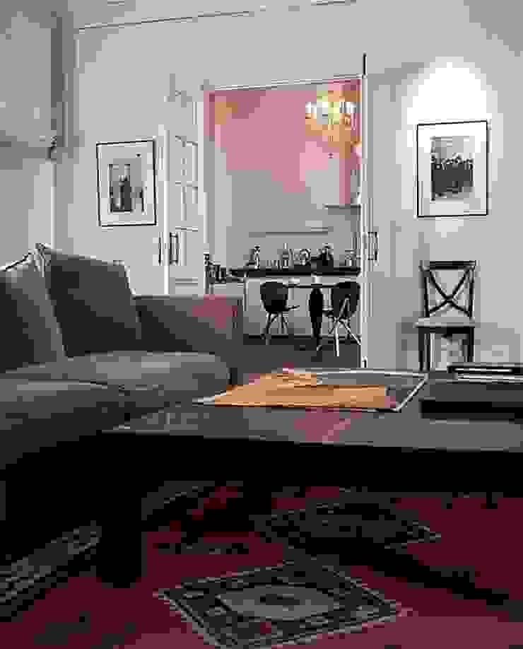 Квартира на Никитской Гостиные в эклектичном стиле от ANIMA Эклектичный