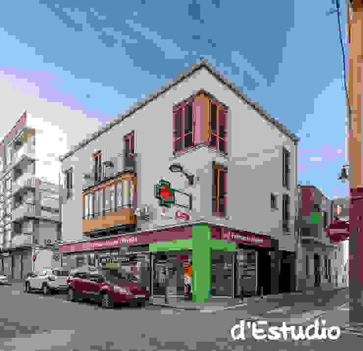 Farmacia Mayor Xirivella | Fachada Espacios comerciales de estilo moderno de Destudio Arquitectura Moderno
