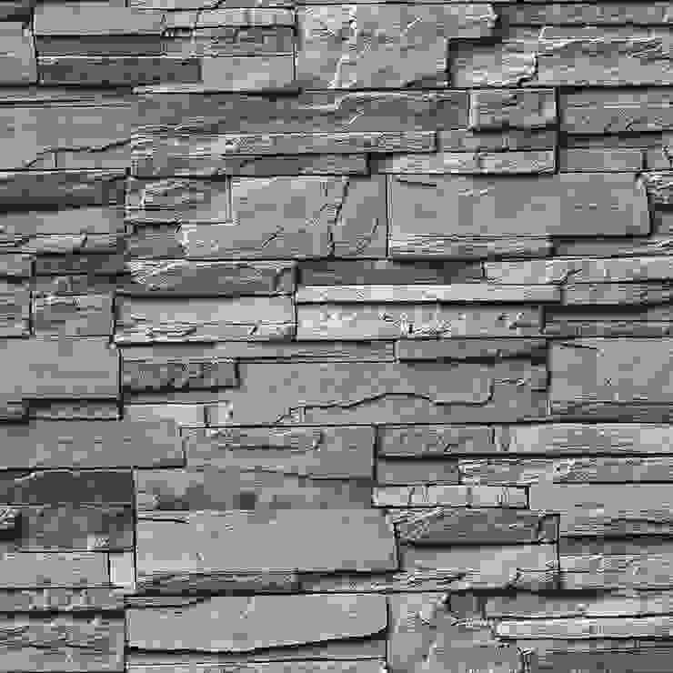 DEKOROS – GRİ TAŞ DESENLİ DUVAR KAĞITLARI:  tarz Duvar & Zemin,