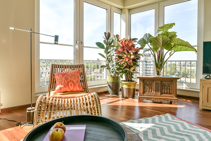 Livings de estilo tropical de Aileen Martinia interior design - Amsterdam Tropical