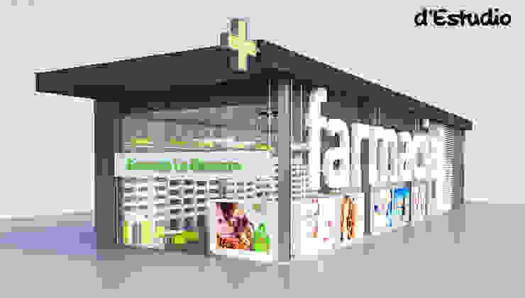 Farmacia en el Centro Comercial La Almazara (S. Vicente del Raspeig) | Fachada Centros comerciales de estilo moderno de Destudio Arquitectura Moderno