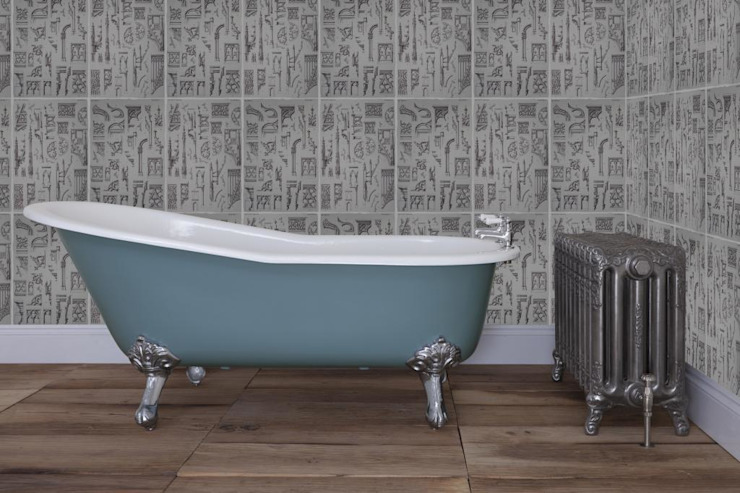 Beaulieu Single High Slipper Cast Iron Roll Top Bath UKAA | UK Architectural Antiques BadezimmerWannen und Duschen