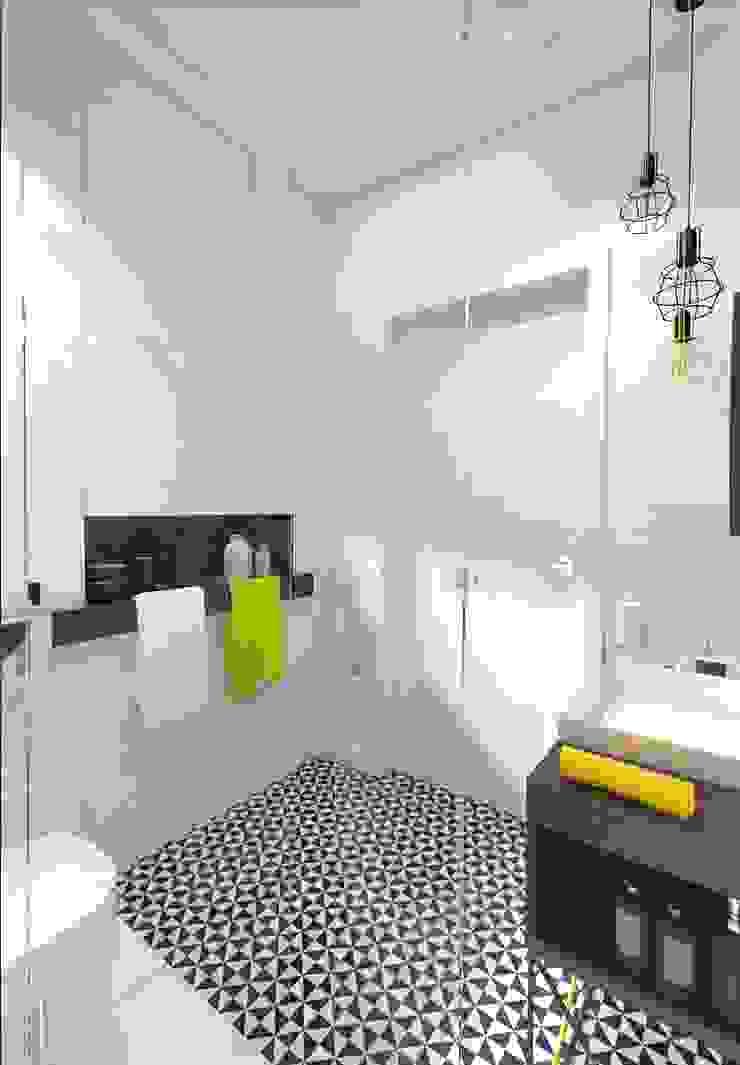 ŁAZIENKA Industrialna łazienka od The Vibe Industrialny