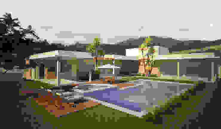 Residência Jardim Passargada Casas modernas por Flávia Brandão - arquitetura, interiores e obras Moderno