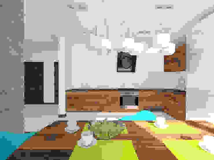 Projekt wnętrza domu 200 m2 Minimalistyczna jadalnia od Lidia Sarad Minimalistyczny