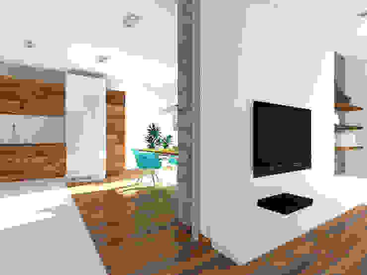 Projekt wnętrza domu 200 m2 Minimalistyczna kuchnia od Lidia Sarad Minimalistyczny
