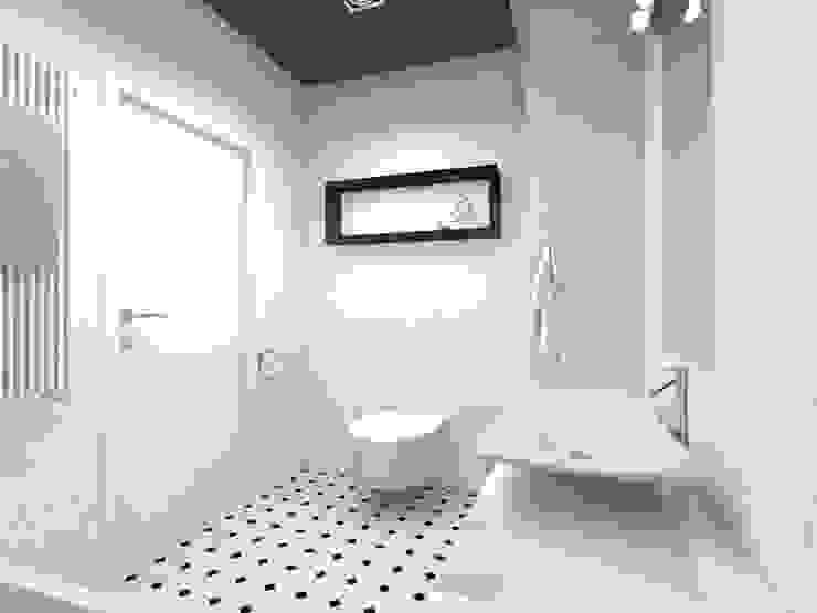 Projekt wnętrza domu 200 m2 Minimalistyczna łazienka od Lidia Sarad Minimalistyczny