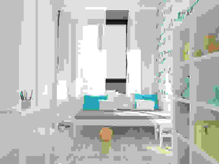 Projekt wnętrza mieszkania 70 m2 w Krakowie Nowoczesny pokój dziecięcy od Lidia Sarad Nowoczesny