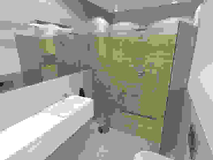 Projekt wnętrza mieszkania 70 m2 w Krakowie Minimalistyczna łazienka od Lidia Sarad Minimalistyczny