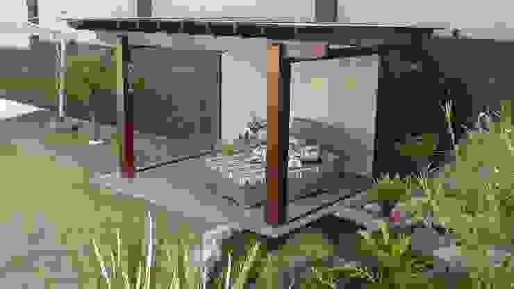 ESpaço de leitura e meditação Jardins tropicais por Flávia Brandão - arquitetura, interiores e obras Tropical