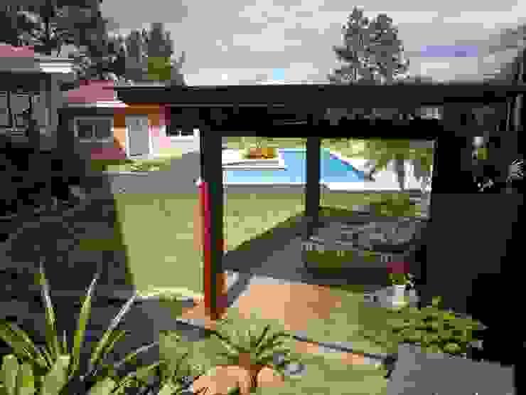 Espaço para cutir e relaxar Piscinas tropicais por Flávia Brandão - arquitetura, interiores e obras Tropical