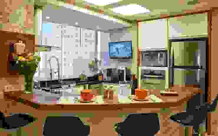 REFORMA EM APARTAMENTO CONSTRUÍDO A MAIS DE 50 ANOS. Cozinhas modernas por Tania Bertolucci de Souza | Arquitetos Associados Moderno