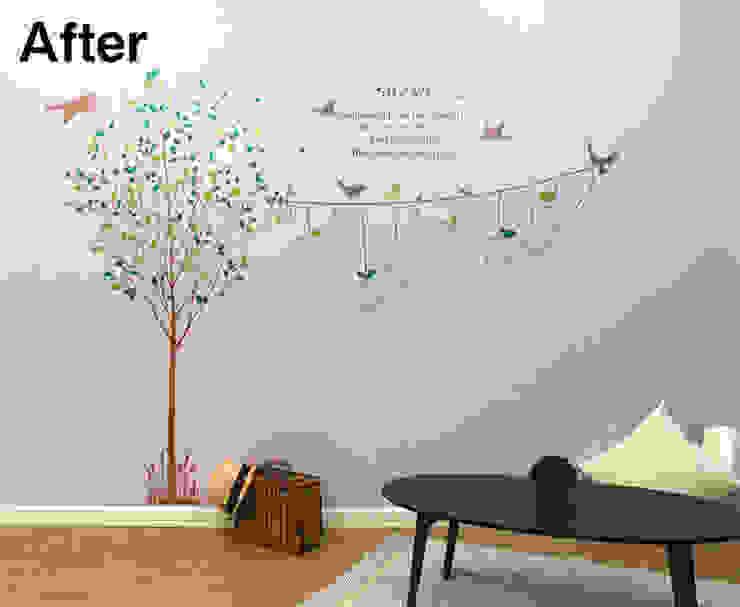 wall paint: 株式会社イーフィールドが手掛けた折衷的なです。,オリジナル