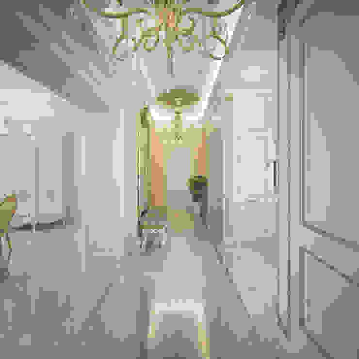 Воздушный интерьер в доме исторического наследия Коридор, прихожая и лестница в классическом стиле от Дизайн-бюро Анны Шаркуновой 'East-West' Классический