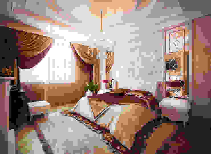 Воздушный интерьер в доме исторического наследия Спальня в классическом стиле от Дизайн-бюро Анны Шаркуновой 'East-West' Классический