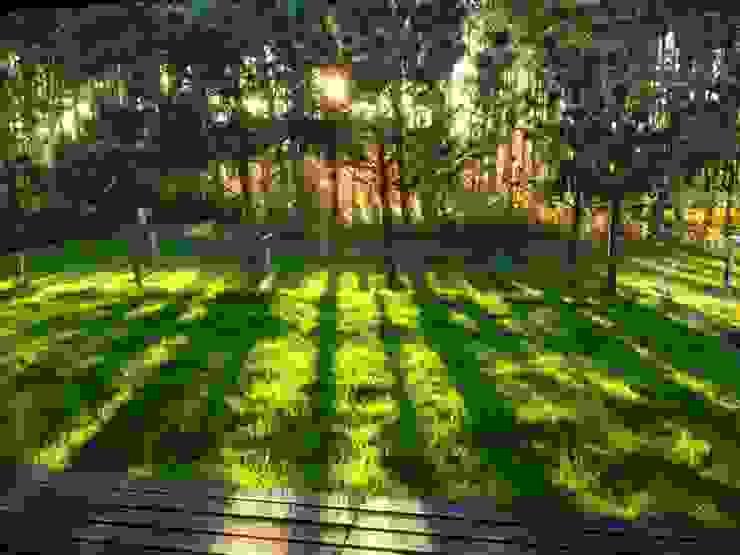 Jak stara fabryka w sercu lasu: styl , w kategorii Ogród zaprojektowany przez RAJEK Projektowanie Wnętrz,Industrialny