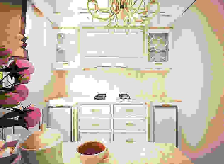 Воздушный интерьер в доме исторического наследия Кухня в классическом стиле от Дизайн-бюро Анны Шаркуновой 'East-West' Классический