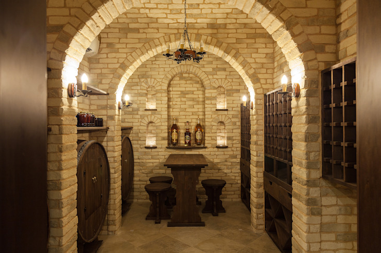 Резиденция в Горках 8 Винный погреб в классическом стиле от дизайн-студия ZE-MOOV Классический