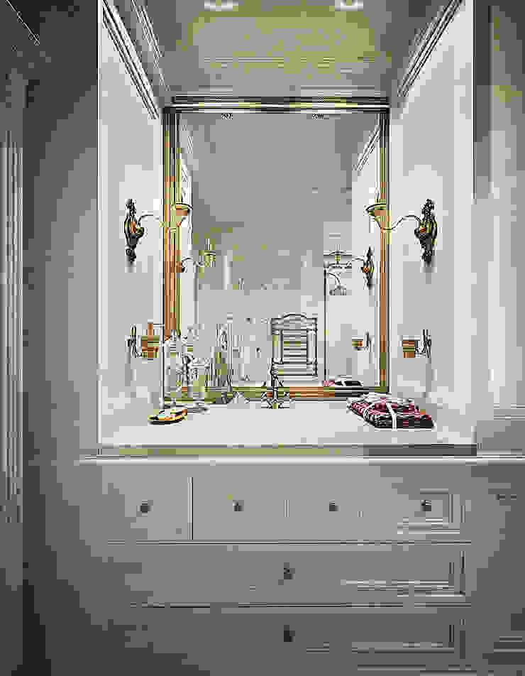 Воздушный интерьер в доме исторического наследия Ванная в классическом стиле от Дизайн-бюро Анны Шаркуновой 'East-West' Классический