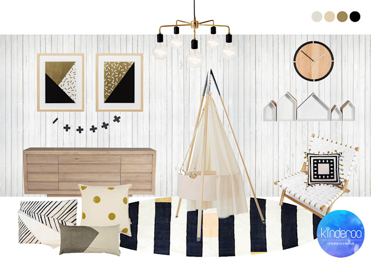 Scandinavian inspired nursery Quarto infantil escandinavo por Kinderoo Childrens Interiors Escandinavo