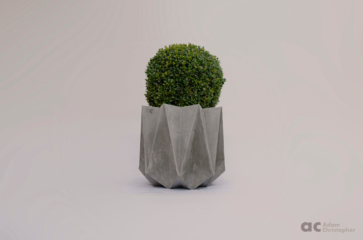 Kronen 54 Planter In Warm Grey Concrete Adam Christopher Design Garden Plant pots & vases Concrete Grey