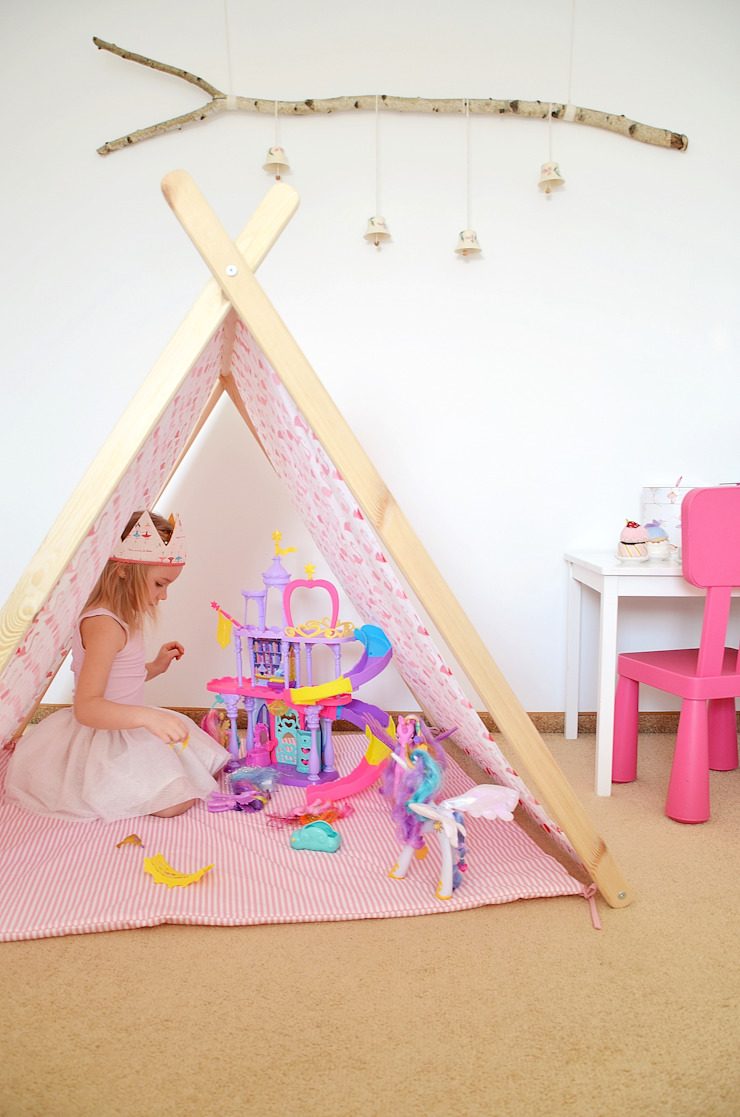 Domek namiot tipi flamingi od Lucky Kids Nowoczesny